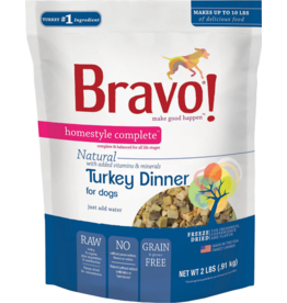 Bravo Bravo Homestyle Complete Dehydrated Dog Food  Turkey 2 lb