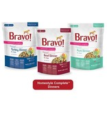 Bravo The Pet Beastro Bravo Homestyle Complete Dehydrated Dog Food  Turkey 3 oz All-Natural For Raw Feeding and High Protein Diets Limited-Ingredient Grain-Free Gluten-Free Freeze-Dried