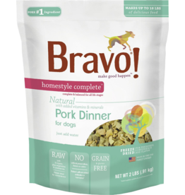 Bravo Bravo Homestyle Complete Dehydrated Dog Food  Pork 2 lb
