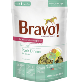 Bravo Bravo Homestyle Complete Dehydrated Dog Food  Pork 3 oz