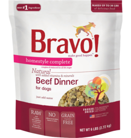 Bravo Bravo Homestyle Complete Dehydrated Dog Food  Beef 6 lb