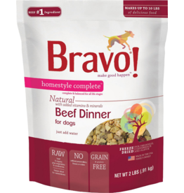 Bravo Bravo Homestyle Complete Dehydrated Dog Food  Beef 2 lb