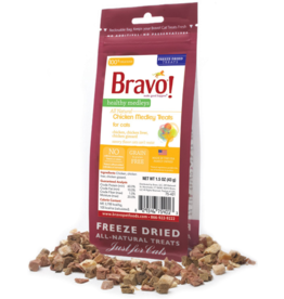 Bravo Bravo Freeze Dried Cat Treats Chicken Medley 1.5 oz