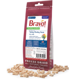 Bravo Bravo Freeze Dried Cat Treats Turkey Medley 1.25 oz