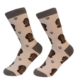 Sock Daddy Sock Daddy Unisex One Size Cotton Socks | Dachshund Brown & Black
