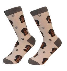 Sock Daddy Sock Daddy Unisex One Size Cotton Socks   Dachshund Brown & Black