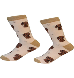 Sock Daddy Sock Daddy Unisex One Size Cotton Socks | Dachshund Cream & Brown