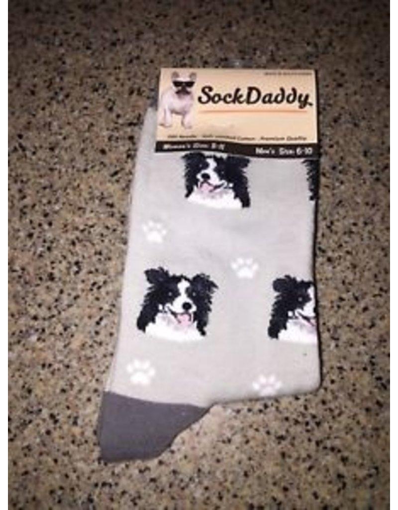 Sock Daddy The Pet Beastro Sock Daddy Unisex One Size Cotton Socks | Border Collie Custom-Made Dog Breed Socks Machine-Washable Crew Mid-Shin Gift