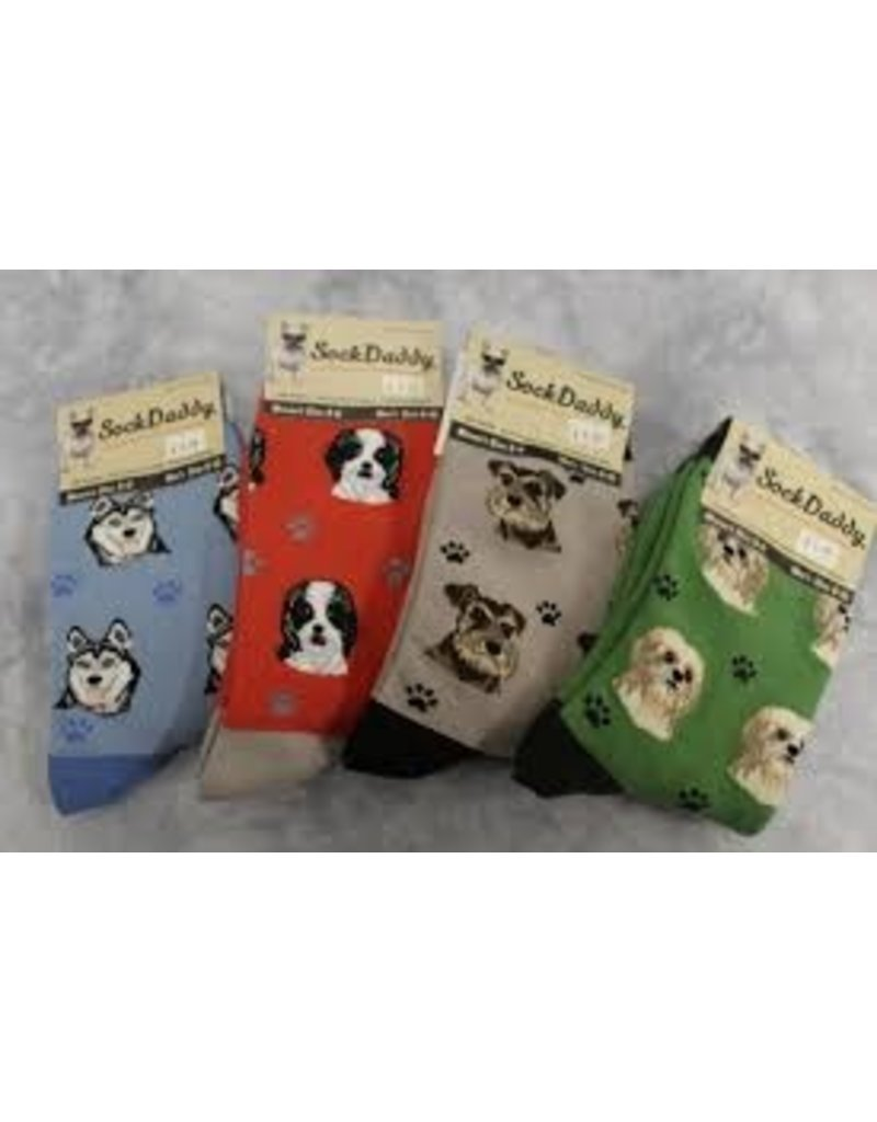 Sock Daddy The Pet Beastro Sock Daddy Unisex One Size Cotton Socks   Border Collie Custom-Made Dog Breed Socks Machine-Washable Crew Mid-Shin Gift