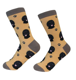 Sock Daddy Sock Daddy Unisex One Size Cotton Socks | Labradoodle, Black