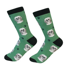 Sock Daddy Sock Daddy Unisex One Size Cotton Socks | Shih Tzu With Green