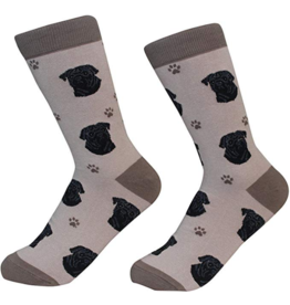 Sock Daddy Sock Daddy Unisex One Size Cotton Socks | Pug Brown & Black