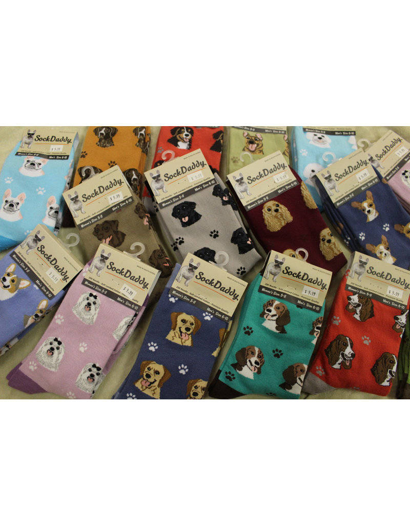 Sock Daddy The Pet Beastro Sock Daddy Unisex One Size Cotton Socks | Australian Shepherd Custom-Made Dog Breed Socks Machine-Washable Crew Mid-Shin Gift