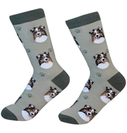 Sock Daddy Sock Daddy Unisex One Size Cotton Socks | Australian Shepherd