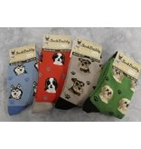 Sock Daddy The Pet Beastro Sock Daddy Unisex One Size Cotton Socks | Boston Terrier Custom-Made Dog Breed Socks Machine-Washable Crew Mid-Shin Gift
