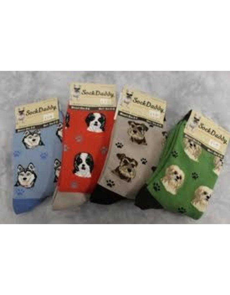 Sock Daddy The Pet Beastro Sock Daddy Unisex One Size Cotton Socks | Bulldog Custom-Made Dog Breed Socks Machine-Washable Crew Mid-Shin Gift