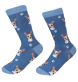 Sock Daddy The Pet Beastro Sock Daddy Unisex One Size Cotton Socks | Chihuahua with Blue Custom-Made Dog Breed Socks Machine-Washable Crew Mid-Shin Gift