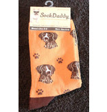 Sock Daddy The Pet Beastro Sock Daddy Unisex One Size Cotton Socks | German Shorthaired Pointer Custom-Made Dog Breed Socks Machine-Washable Crew Mid-Shin Gift