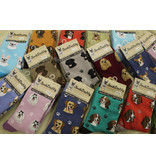 Sock Daddy The Pet Beastro Sock Daddy Unisex One Size Cotton Socks | Poodle with Blue Custom-Made Dog Breed Socks Machine-Washable Crew Mid-Shin Gift