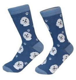 Sock Daddy Sock Daddy Unisex One Size Cotton Socks | Poodle with Blue