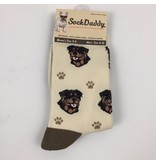 Sock Daddy The Pet Beastro Sock Daddy Unisex One Size Cotton Socks | Rottweiler Custom-Made Dog Breed Socks Machine-Washable Crew Mid-Shin Gift