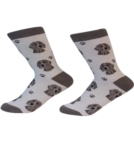 Sock Daddy Sock Daddy Unisex One Size Cotton Socks | Weimaraner