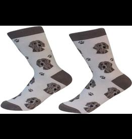 Sock Daddy Sock Daddy Unisex One Size Cotton Socks | Weimaraner