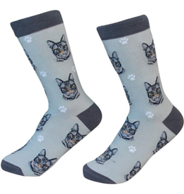 Sock Daddy Sock Daddy Unisex One Size Cotton Socks | Tabby Cat Silver