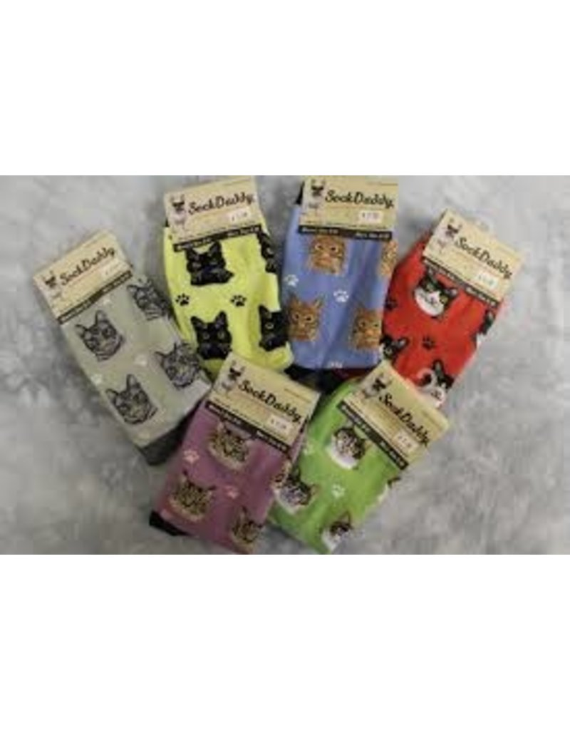 Sock Daddy The Pet Beastro Sock Daddy Unisex One Size Cotton Socks | Tabby Cat Orange Custom-Made Cat Breed Socks Machine-Washable Crew Mid-Shin Gift