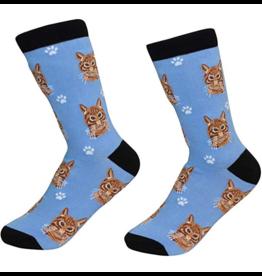 Sock Daddy Sock Daddy Unisex One Size Cotton Socks | Tabby Cat Orange
