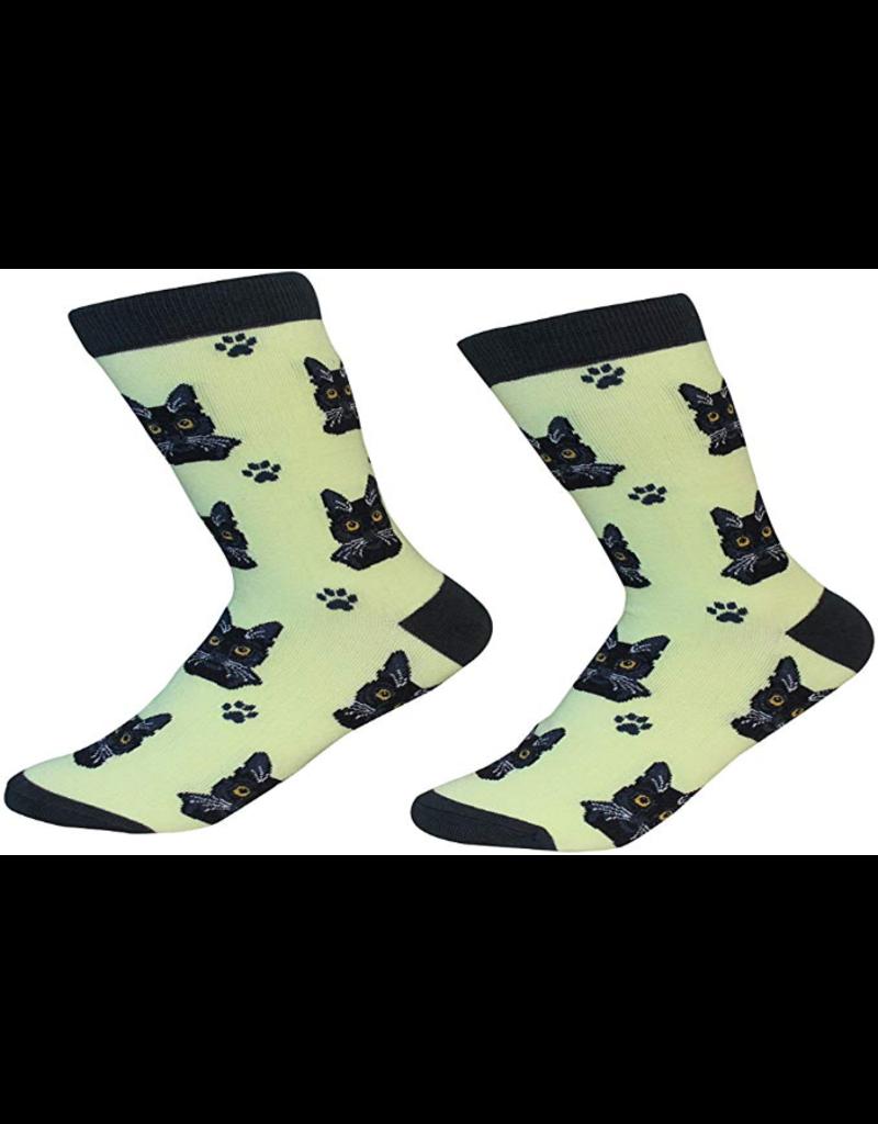Sock Daddy The Pet Beastro Sock Daddy Unisex One Size Cotton Socks | Black Cat Custom-Made Cat Breed Socks Machine-Washable Crew Mid-Shin Gift