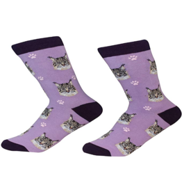 Sock Daddy Sock Daddy Unisex One Size Cotton Socks | Maine Coon