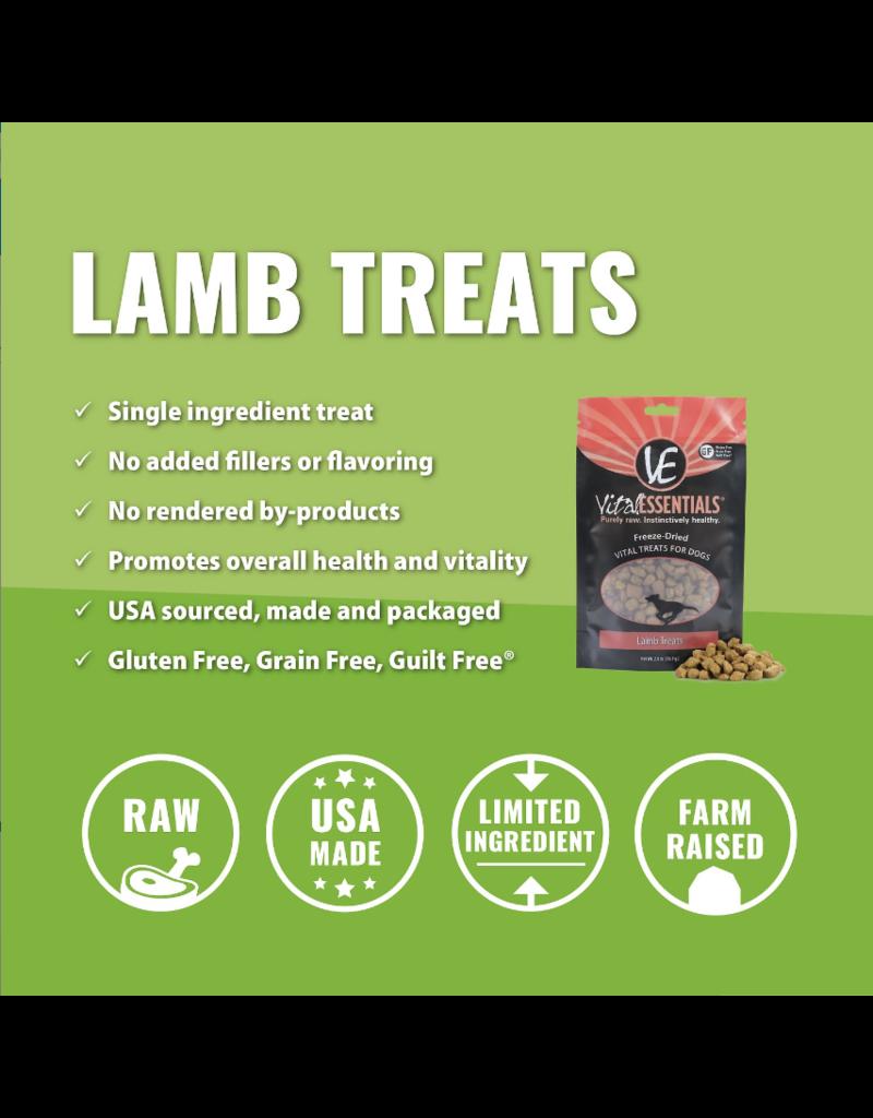 Vital Essentials The Pet Beastro Vital Essentials Freeze Dried Dog Treats Lamb 2 oz All-Natural Raw Freeze-Dried Dog Treats Protein Limited-Ingredient