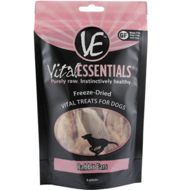 Vital Essentials Vital Essentials Freeze Dried Dog Treats  Rabbit Ears 6 pk