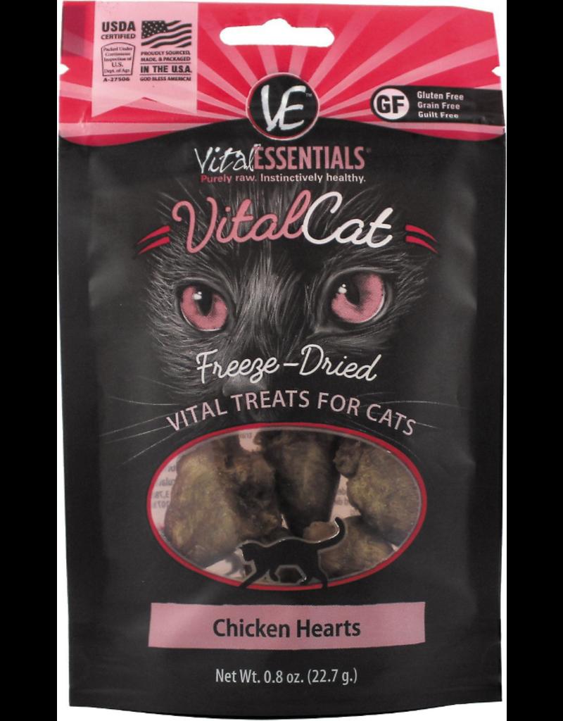 Vital Essentials The Pet Beastro Vital Essentials Freeze Dried Cat Treats Chicken Hearts .8 oz All-Natural Raw Freeze-Dried Cat Treats Protein Limited-Ingredient