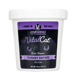 Vital Essentials Vital Essentials Frozen Cat Turkey Entree 14 oz Tub (*Frozen Products for Local Delivery or In-Store Pickup Only. *)