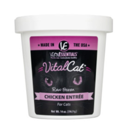 Vital Essentials Vital Essentials Frozen Cat Food Chicken Entree 14 oz Tub (*Frozen Products for Local Delivery or In-Store Pickup Only. *)