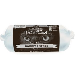Vital Essentials Vital Essentials Frozen Cat Food Rabbit 16 oz Chub CASE (*Frozen Products for Local Delivery or In-Store Pickup Only. *)