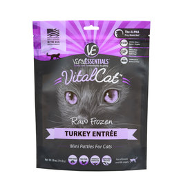 Vital Essentials Vital Essentials Frozen Cat Mini Patties CASE Turkey 1.75 lb (*Frozen Products for Local Delivery or In-Store Pickup Only. *)