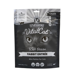 Vital Essentials Vital Essentials Frozen Cat Food Mini Patties CASE Rabbit 1.75 lb (*Frozen Products for Local Delivery or In-Store Pickup Only. *)