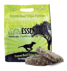 Vital Essentials Vital Essentials Frozen Dog Patties Tripe 8 oz Patties 6 lbs CASE (*Frozen Products for Local Delivery or In-Store Pickup Only. *)