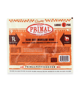 Primal Primal Frozen Raw Bones Beef Marrow Bone Large 1 pk (*Frozen Products for Local Delivery or In-Store Pickup Only. *)