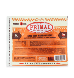 Primal Pet Foods Primal Frozen Raw Meaty Bones Beef Marrow Bone Medium (*Frozen Products for Local Delivery or In-Store Pickup Only. *)