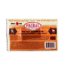 Primal Primal Frozen Raw Meaty Bones Beef Marrow Bone Small (*Frozen Products for Local Delivery or In-Store Pickup Only. *)