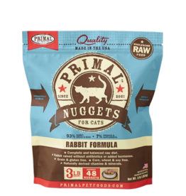 Primal Pet Foods Primal Raw Frozen Nuggets Cat Food Rabbit 3 lb (*Frozen Products for Local Delivery or In-Store Pickup Only. *)