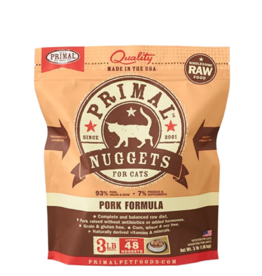 Primal Primal Raw Frozen Nuggets Cat Food Pork 3 lb (*Frozen Products for Local Delivery or In-Store Pickup Only. *)