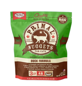 Primal Primal Raw Frozen Nuggets Cat Food Duck 3 lb (*Frozen Products for Local Delivery or In-Store Pickup Only. *)