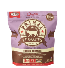 Primal Pet Foods Primal Raw Frozen Nuggets Cat Food Turkey 3 lb (*Frozen Products for Local Delivery or In-Store Pickup Only. *)
