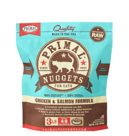 Primal Primal Raw Frozen Nuggets Cat Food Chicken & Salmon 3 lb CASE/8 (*Frozen Products for Local Delivery or In-Store Pickup Only. *)