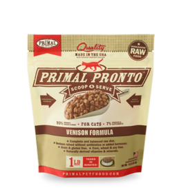 Primal Pet Foods Primal Raw Frozen Pronto Cat Food Venison 1 lb (*Frozen Products for Local Delivery or In-Store Pickup Only. *)